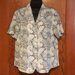 Alfred Dunner Size 8 Button Down